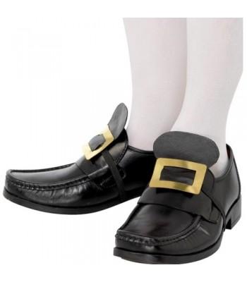 Boucles de chaussures métal or