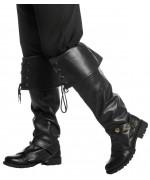 Sur-bottes noires luxe - accessoire pour déguisement