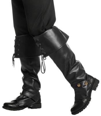Sur-bottes noires luxe