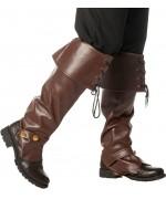 Sur-bottes marron luxe, idéale pour accessoiriser un déguisement steampunk ou pirate
