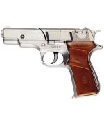 Pistolet Panther metal 18 cm - accessoire déguisement Lara Croft
