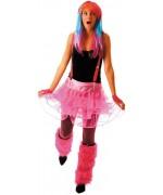 Tutu rose fluo pour femme, accessoirisez tous vos déguisements sur le thème des années 80