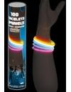 Tube de 100 bracelets lumineux