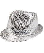 Borsalino sequin argent - le chapeau Disco