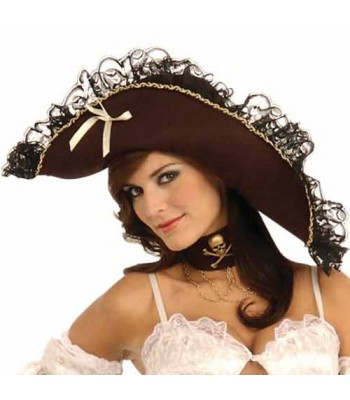 Chapeau de pirate luxe