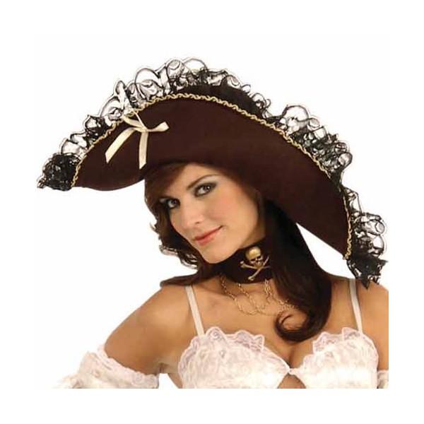 Chapeau De Pirate Luxe Pour Femme Za009a La Magie Du Deguisement