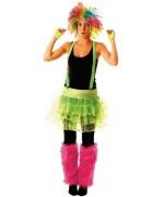 Tutu vert fluo, un accessoire idéal pour vos soirées sur le thème des années 80