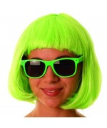 Perruque vert fluo, idéale pour apporter une touche originale et colorée à tous vos déguisements
