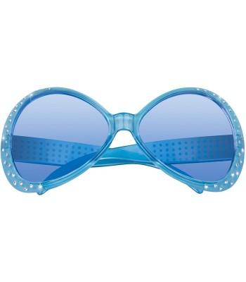 Lunettes bleues avec strass