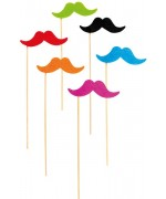 Moustaches fluo