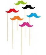 Moustaches fluo