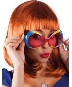 Paire de lunettes multicolores avec strass