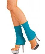 Guêtres bleues adulte, idéal pour accessoiriser tous vos déguisements 80's