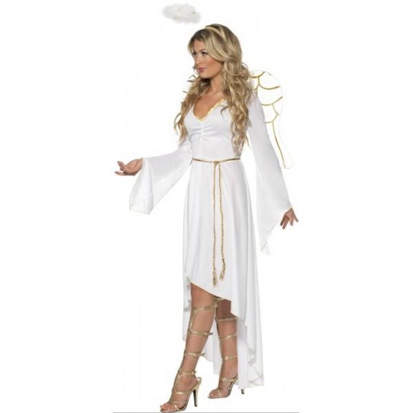 ... blanches et auréole · deguisement d ange pour femme avec robe, ailes et  auréole - thème Noël ... 2093f6c69e8c