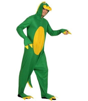 Déguisement dragon vert adulte