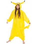 Déguisement Jonachu adolescent 164 cm, combinaison jaune à capuche