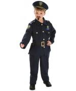 Déguisement de policier enfant avec casquette et sifflet, incarne un véritable agent des forces de l'ordre