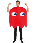 Déguisement de fantome rouge pour adulte, incarnez un personnage du jeu vidéo Pacman - années 80