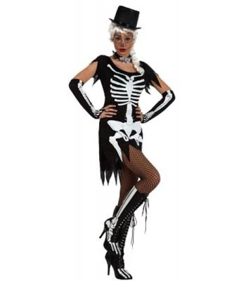 Déguisement squelette ténébreux femme