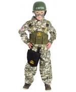 Déguisement militaire pour enfant de 3 à 12 ans, incarne un véritable soldat de l'US Navy