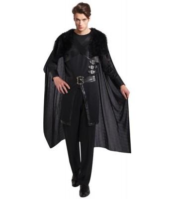 Déguisement chevalier noir luxe
