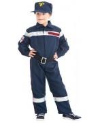 Déguisement de pompier enfant luxe, incarne un véritable soldat du feu