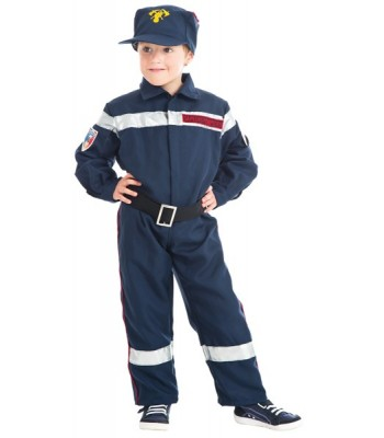 Déguisement de pompier enfant luxe