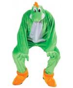 Ce déguisement de super dragon vert pour adulte peut aussi vous permettre d'incarner Yoshi du jeu vidéo Mario Bros