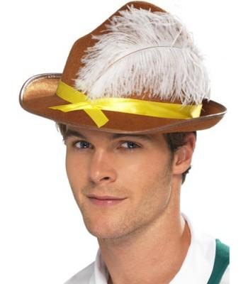 60% pas cher économiser jusqu'à 60% prix imbattable Chapeau bavarois marron avec plume - la magie du déguisement ...