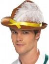 Chapeau bavarois marron avec plume - fête de la bière et tyrolien