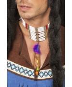 Collier indien avec plumes, offrez davantage de réalisme à tous vos déguisements indiens