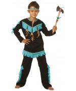 déguisement indien bleu et noir pour garçons et adolescents - costume indien wishbone