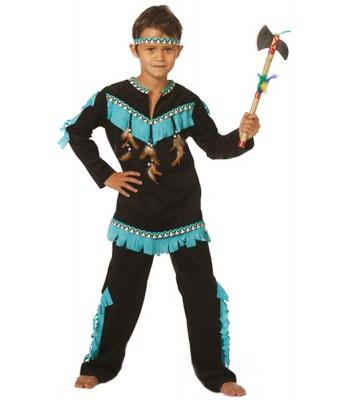 Déguisement indien noir et bleu garçon