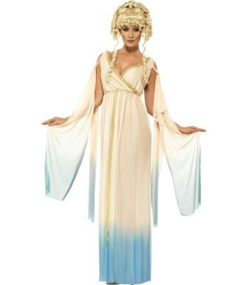 Déguisement déesse romaine bleue