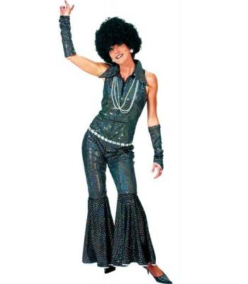 Déguisement disco noir femme