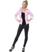 Déguisement Grease pour femme, veste rose Pink Ladies