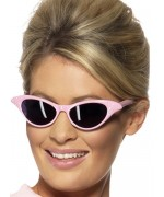 Lunettes Grease rose à strass