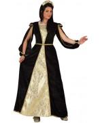 Déguisement de princesse médiévale dorée adulte