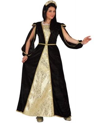 Déguisement princesse médiévale dorée