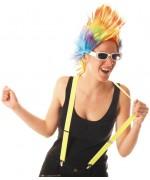 Bretelles jaune fluo, idéales pour compléter tous déguisements sur le thème des années 80