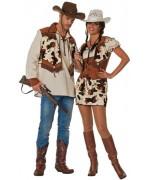 Déguisement de cow boy pour homme, chemise de cowboy avec gilet - SA168S