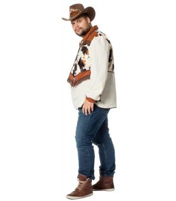 Chemise cowboy avec gilet homme