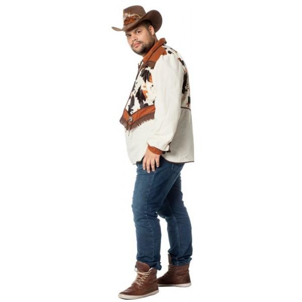 Chemise cowboy avec gilet homme grande taille la magie du d guisement costumes western adulte - Deguisement western homme ...