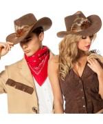 Chapeau cowboy luxe avec plumes - SA051A