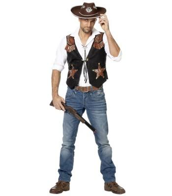 Gilet cowboy homme sheriff la magie du d guisement ventes d 39 accessoires et costumes western - Deguisement western homme ...