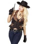 Gilet de cowboy pour femme, accessoire western