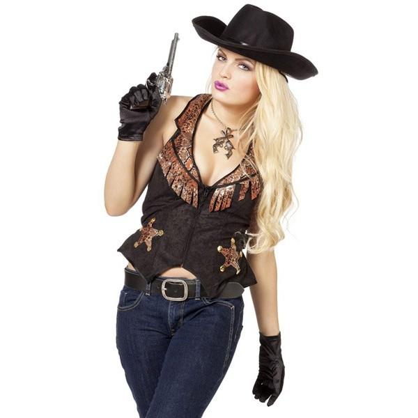 Gilet cowboy femme sheriff - la magie du deguisement, achat vente d ... b717404fdea