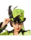 Chapeau de forme vert neon luxe