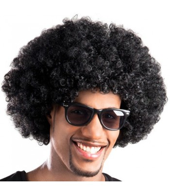 Perruque afro noir adulte