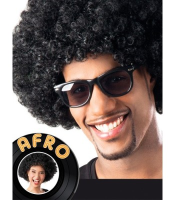 Perruque afro noir adulte